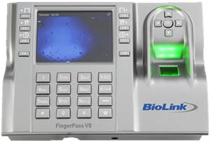 Biometric Time & Attendance / Access Control Terminal BioLink FingerPass V8